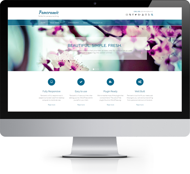 Panoramic WordPress theme by Out the Box