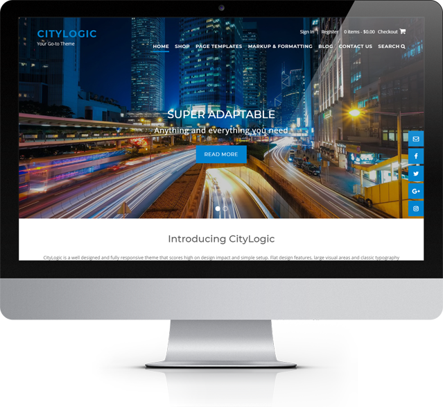 CityLogic WordPress theme