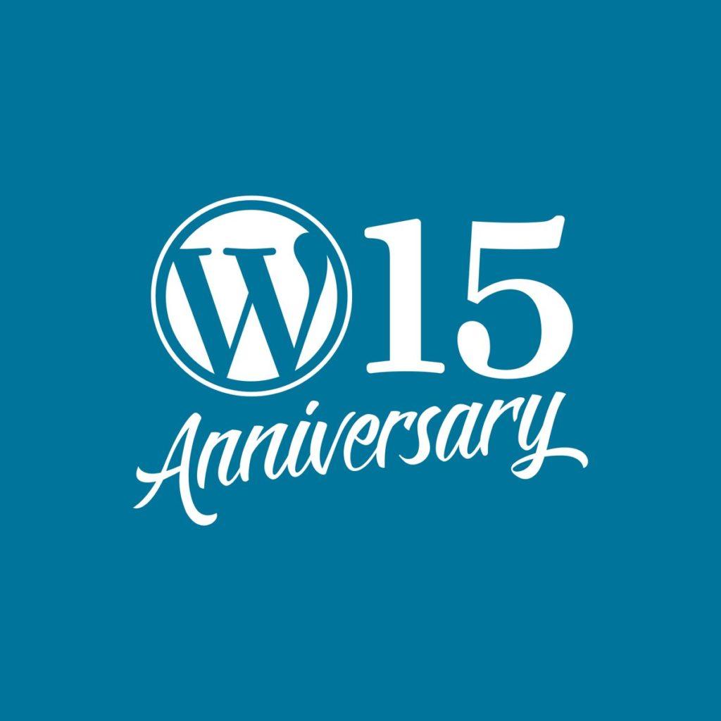WordPress 15th Anniversary Theme Sale