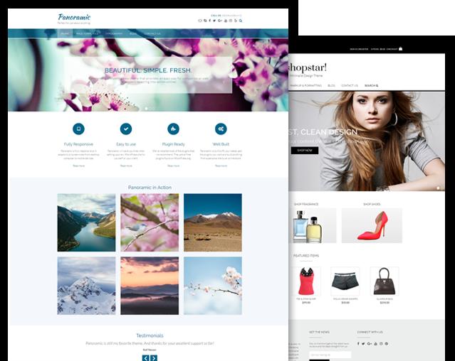 Panoramic and Shopstar! WordPress theme bundle