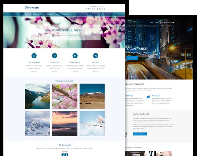 Panoramic and CityLogic WordPress theme bundle