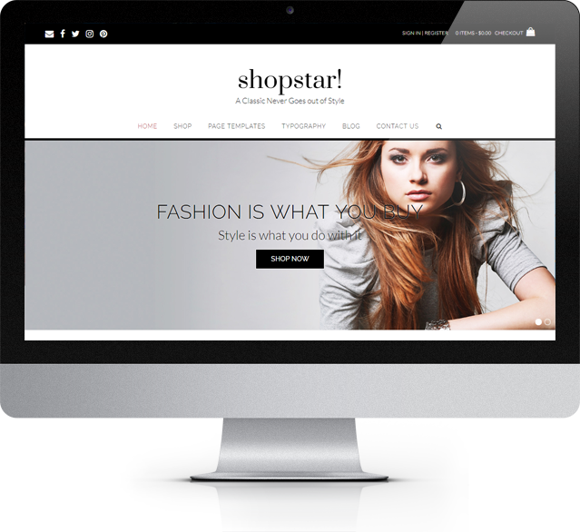 Shopstar! WordPress theme
