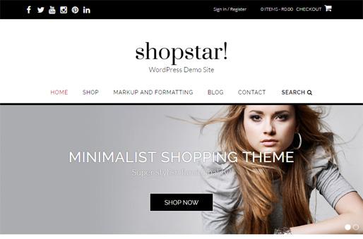 Shopstar! WordPress theme