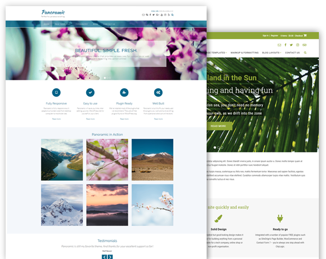 Panoramic and Tropicana WordPress theme bundle