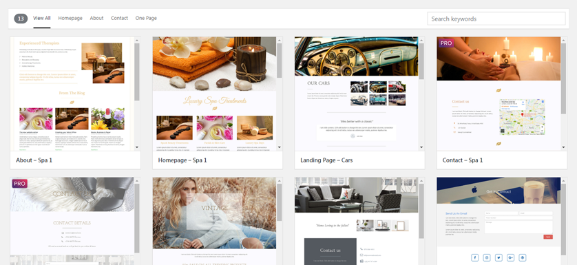 Elementor Page Builder Layouts now available in our themes