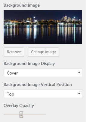 footer background image settings