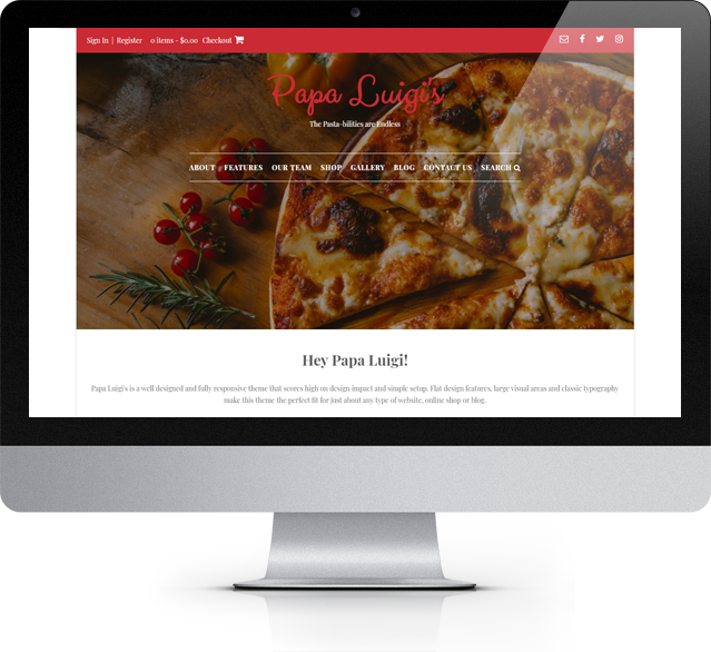 Papa Luigi's WordPress theme