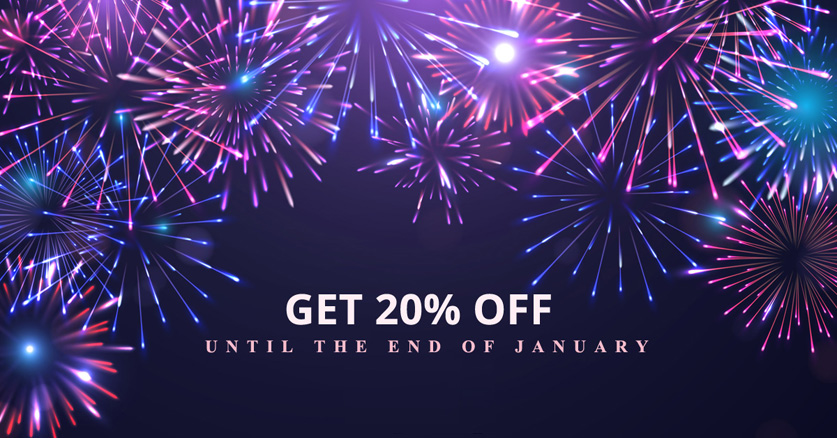Get 20% off with our 2020 sale!