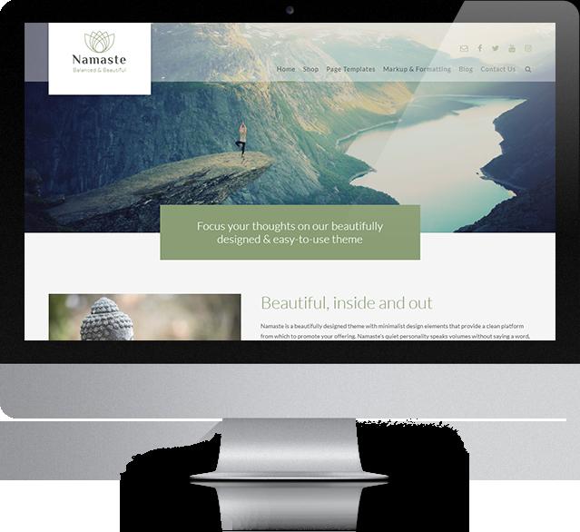 Namaste WordPress theme